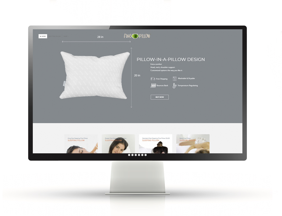 Fine Pillow an eCommerce project
