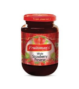 fruitomans whole strawberry preserve