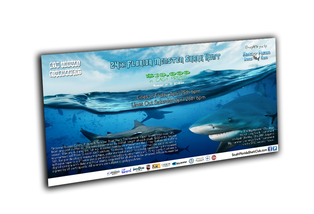 South Florida Shark Club Poster Banner