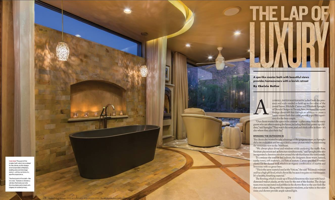 Kitchen and Bath Business Magazine Cover Features Dorado Designs