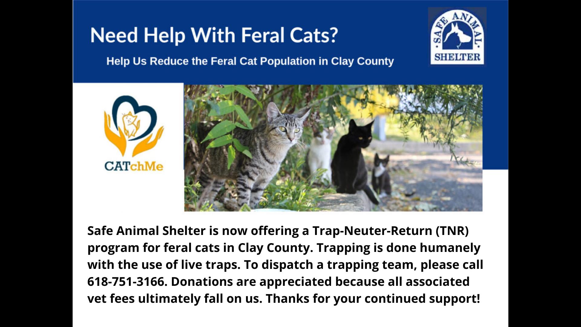 Safe Animal Shelter Trap and Return Program
