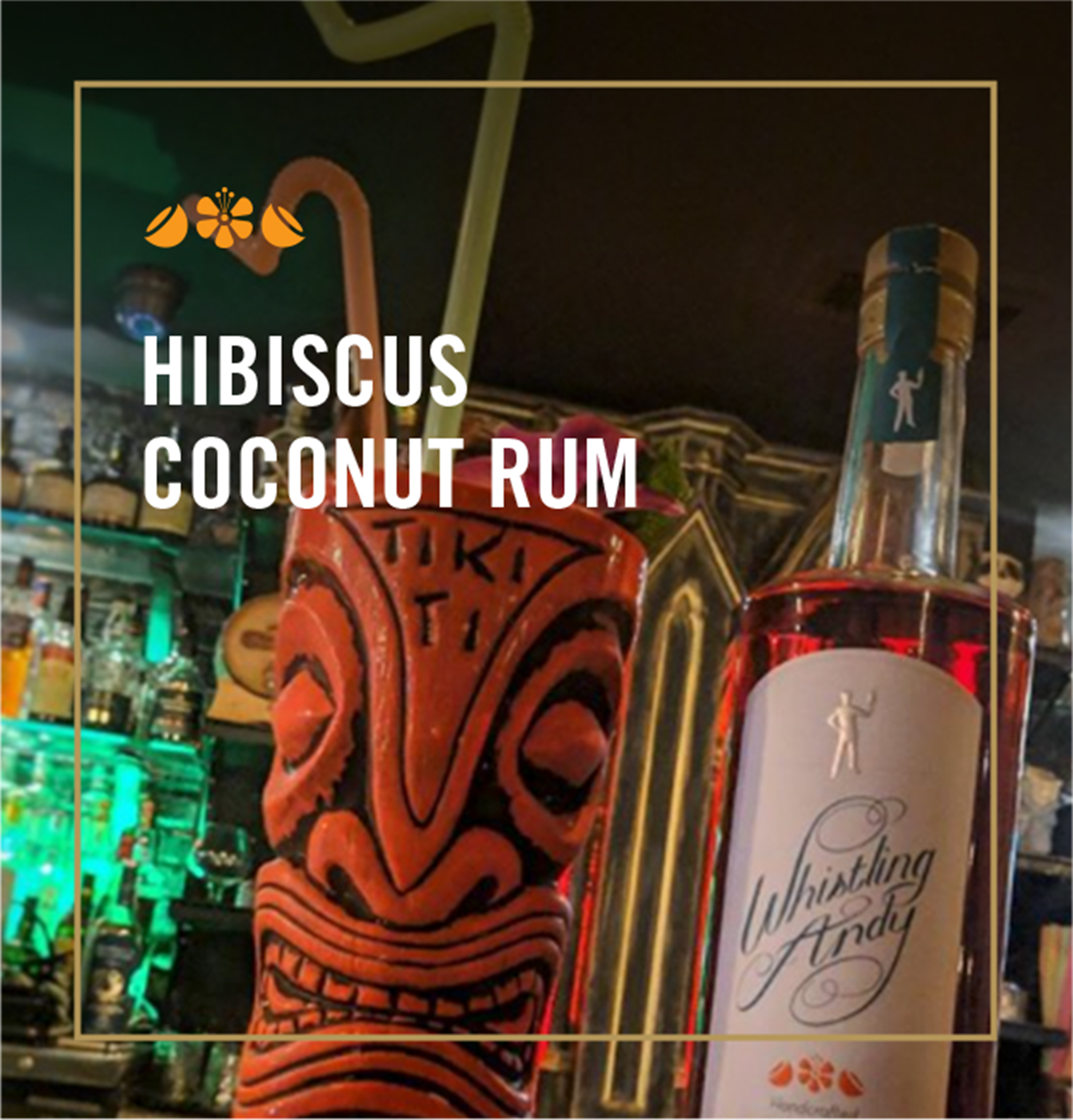 Hibiscus Coconut Rum Cocktails - Whistling Andy Distillery