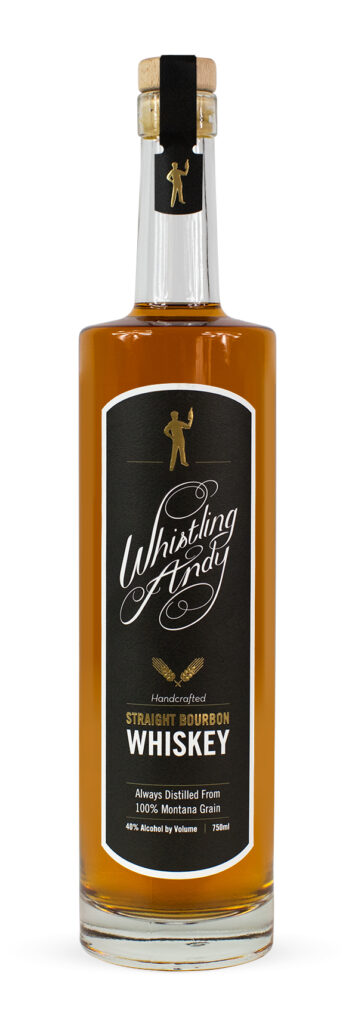 Straight Bourbon Whiskey Bottle Image