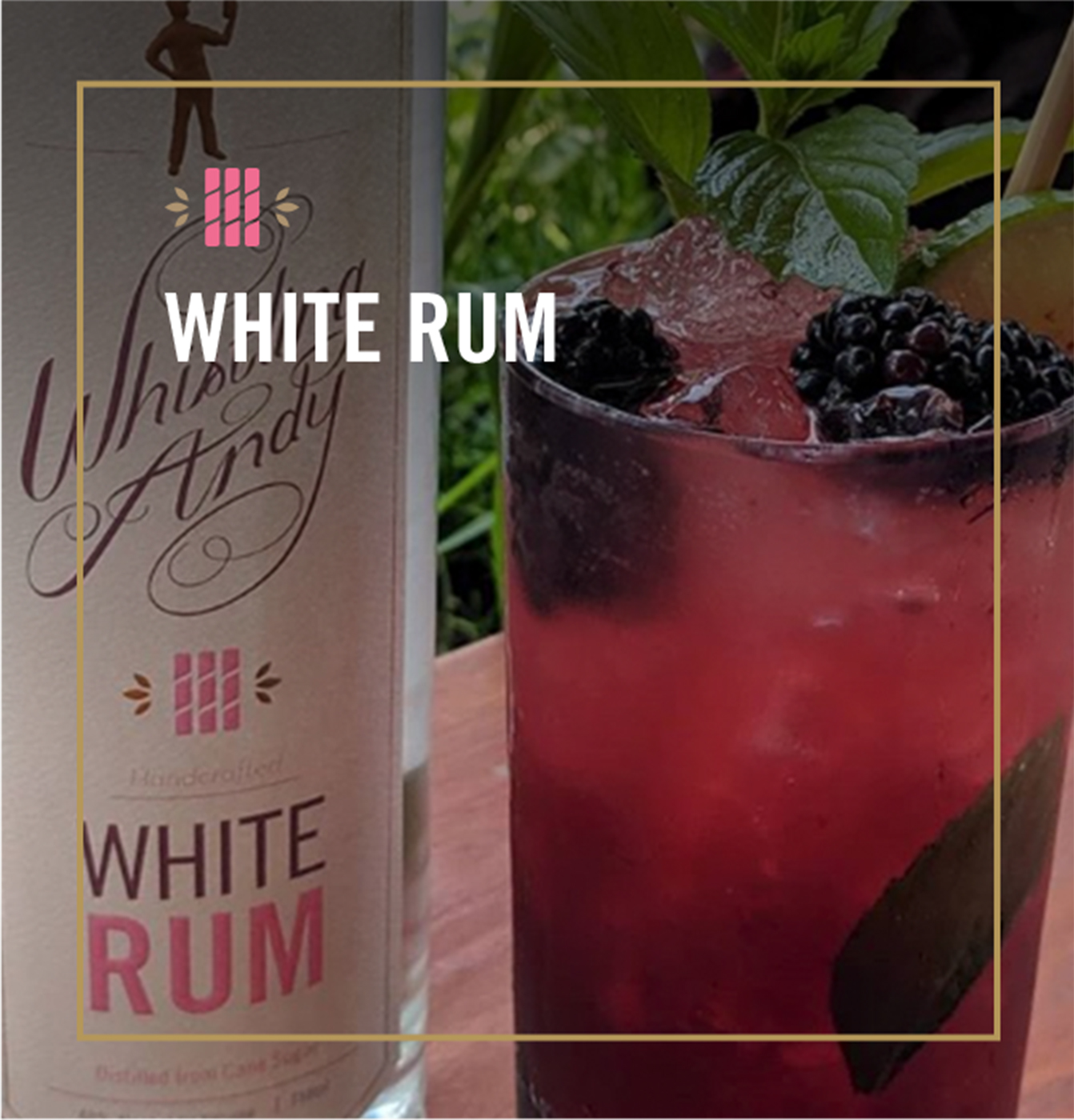 White Rum Cocktails - Whistling Andy Distillery