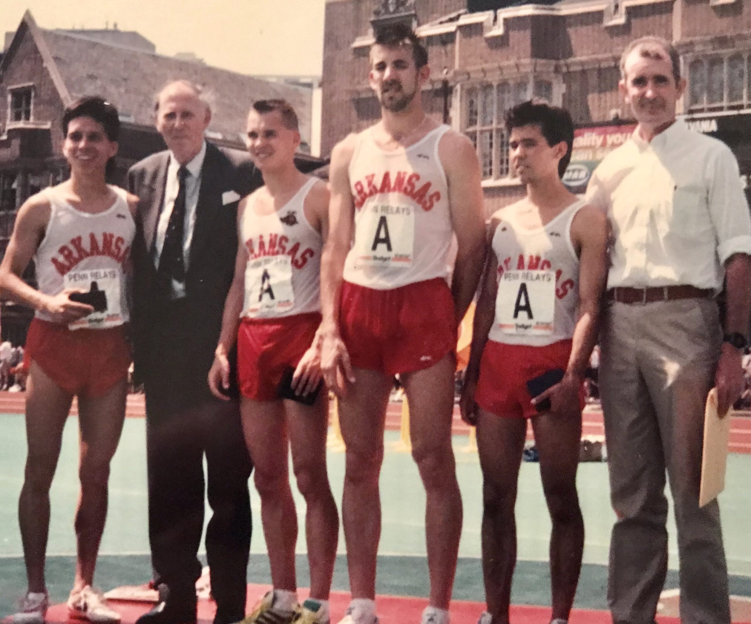1990 4 x 1500 with Roger Bannister