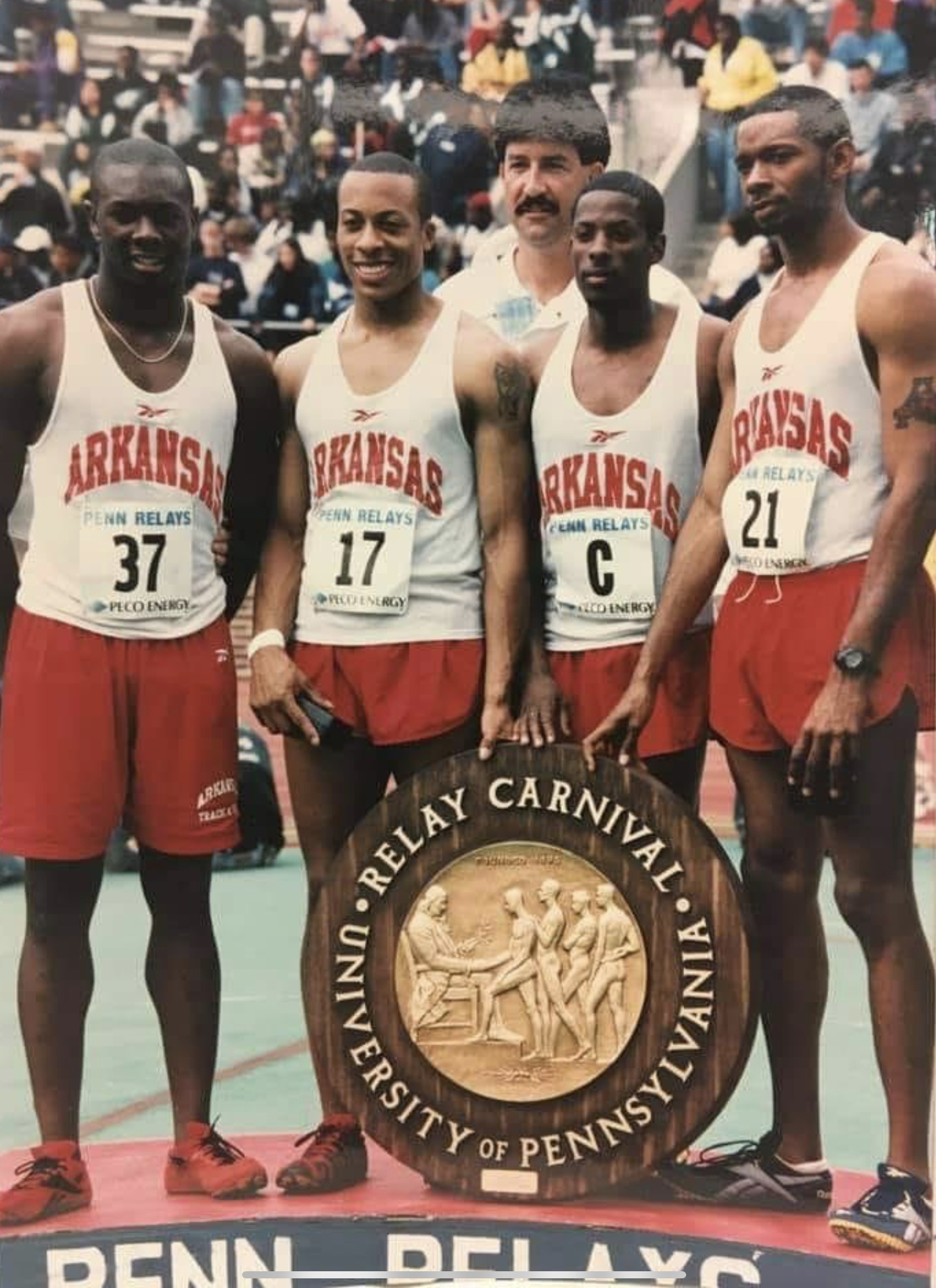 Shuttle Hurdle Relay victory with Coach Silvey 2000