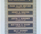 Name Plaques on Officefront