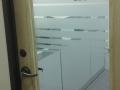 Etched Vinyl on Glass Door