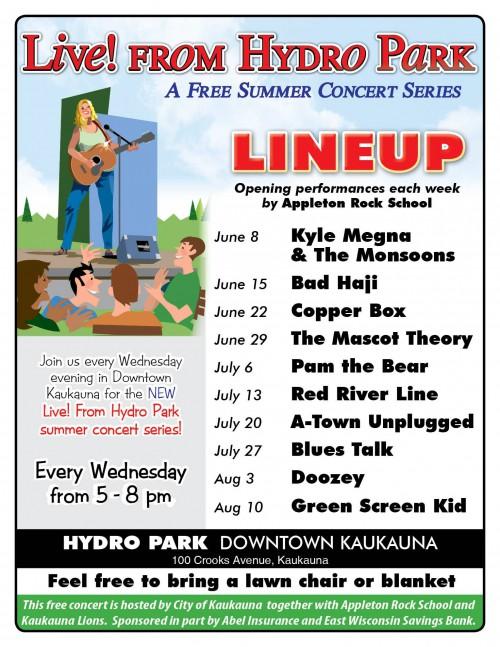 Kaukauna Hydro Park Concerts