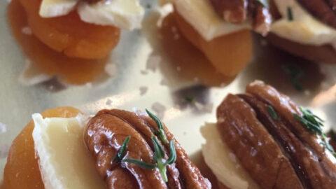 Apricot and Honeyed Pecan Bites