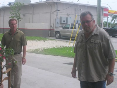 Roger Hernstatdt and Mike Cinque About to Enter Building Where 'Secret' Crane Point Meeting Took Place