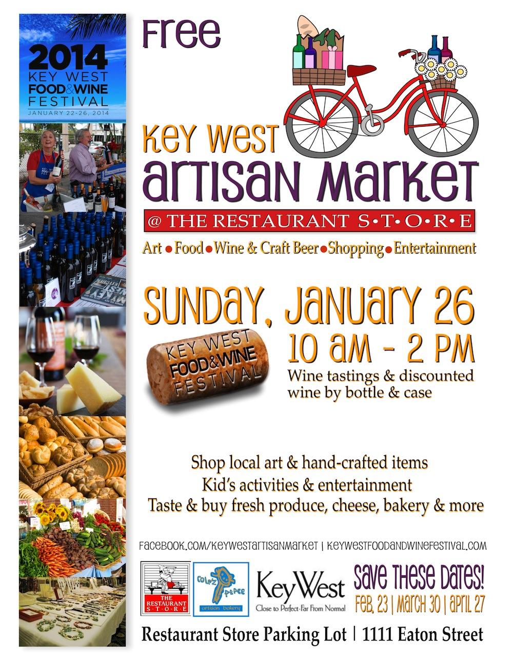 artisasn market flyer f&w festival