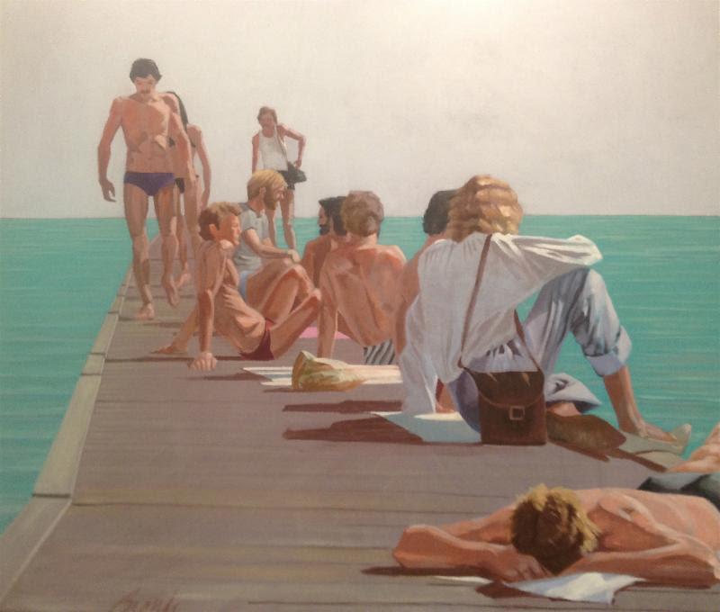 Reynold's Street Pier. Artist: Craig Biondi. From the collection of Betty Rubenstein.