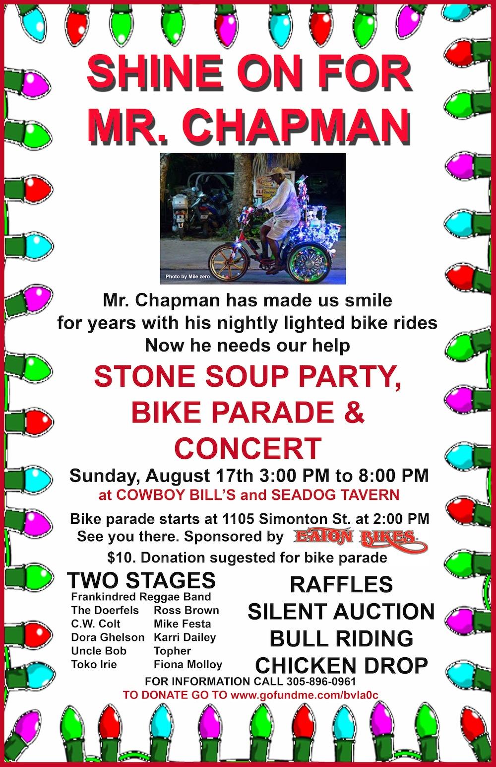 chapman fundraiser poster