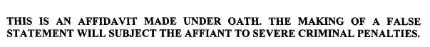 smith affidavit bold