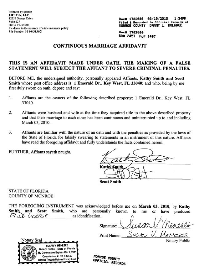 smith affidavit