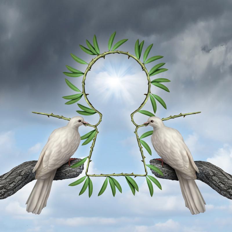 peace keyhole