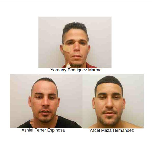 Marathon fight suspects