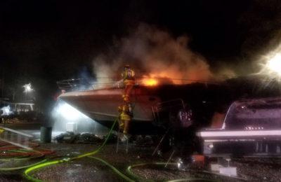 "Suspicious Marina Fire: Man ""On Fire"" / Multiple Boats Burned"