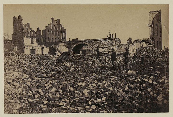"""""""Ruins in Richmond"""" Damage to Richmond, Virginia from the American Civil War."""