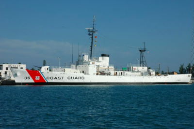 Osprey Shot Off Mast of US Coast Guard Cutter Ingham