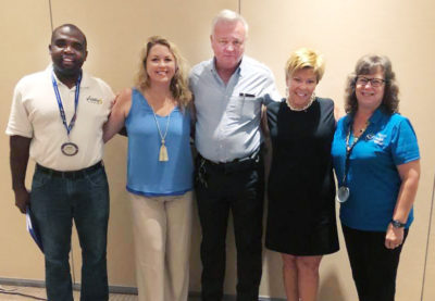 Key West Sunrise Rotary Installs Higgins and Maxwell as Members