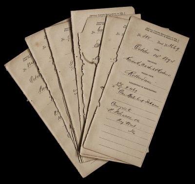 A Customs Form, dated October 14th, 1894, just three years after the iconic building opened to the public, records shipment of one bale of leaf tobacco from Rotterdam, Netherlands, consigned to P. Pohalski of Key West. Photo courtesy Key West Art & Historical Society.