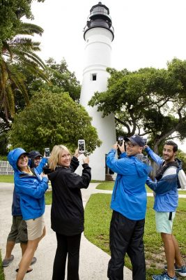 The Weather Channel Team at Key West Lighthouse on Sunday