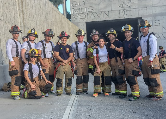 Members of Monroe County Fire Rescue participated in the Miami Tunnel to Towers 5K Run & Walk to benefit the Stephen Siller Tunnel to Towers Foundation on Sept. 18, 2016.