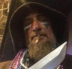 treehouse murder facebook photo ty tucker facepaint plastic knife