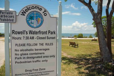 ROWELL'S WATERFRONT PARK IN KEY LARGO OPENS SATURDAY