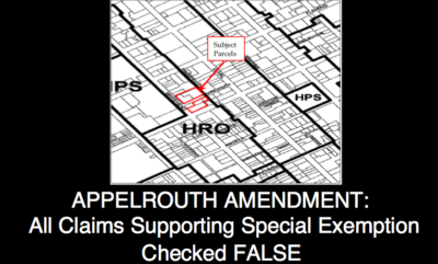 Appelrouth Amendment: All Claims Supporting Special Exemption Checked False