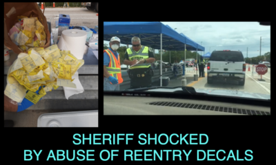 SHERIFF SHOCKED BY ABUSE OF HURRICANE REENTRY DECALS