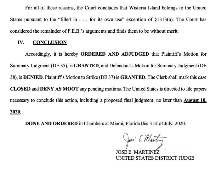 wisteria final order judge martinez