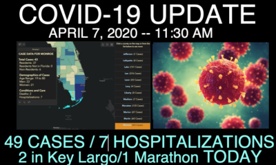 COVID-19 UPDATE - 49 CASES IN THE KEYS (NOW 9 IN KEY LARGO / 1 MORE IN MARATHON)