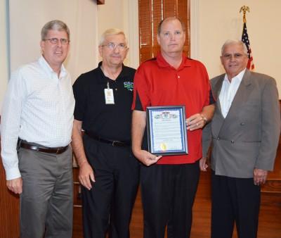 J.B. Stayton Given Award for Emergency Response