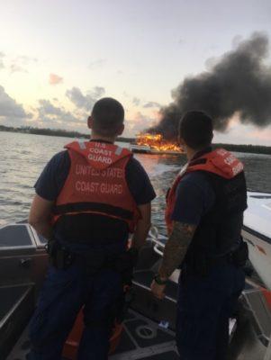 Coast Guard, Partner Agencies Respond to Vessel Fire in Tarpon Basin Near Key Largo