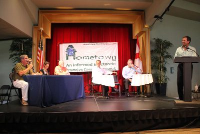THE BEST ARGUMENT AGAINST DEMOCRACY IS A FIVE-MINUTE CONVERSATION WITH THE AVERAGE VOTER. MAYBE NOT SO TRUE IN KEY WEST-- BECAUSE OF THE HOMETOWN! POLITICAL FORUMS