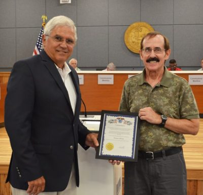 Outgoing CRB Member, Tom Milone, Commended