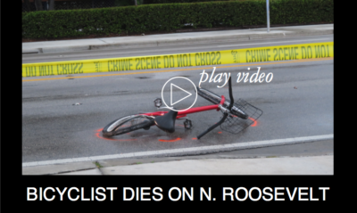 Bicyclist Dies in N. Roosevelt Crash