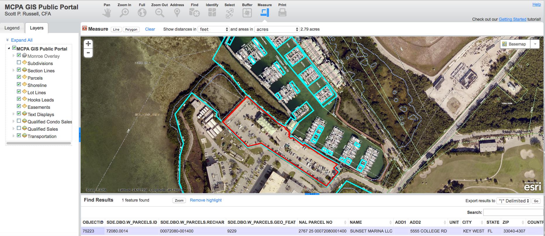 sunset marina mcpa map 2.79 acres