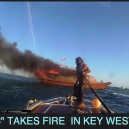 boat fire key west