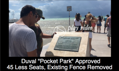"""Duval """"Pocket Park"""" Plan Approved with 45 Less Seats and Existing Fence Removed"""