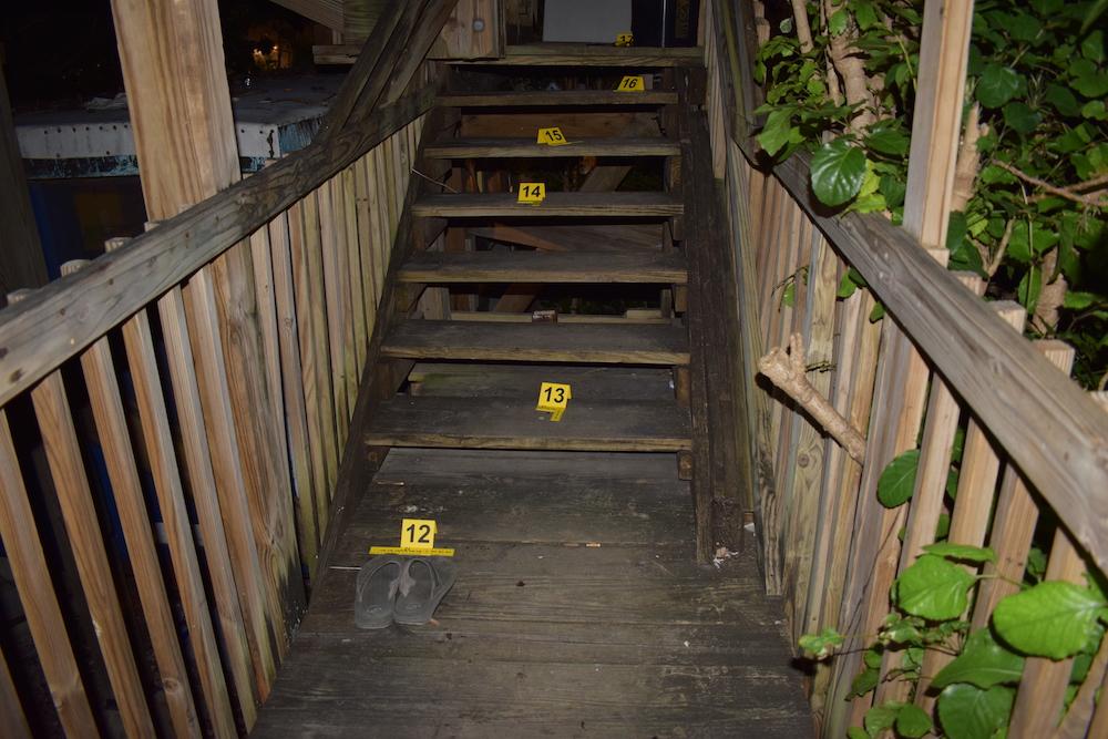 treehouse murder crime scene photo