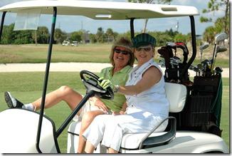 Ladies in Golf Cart
