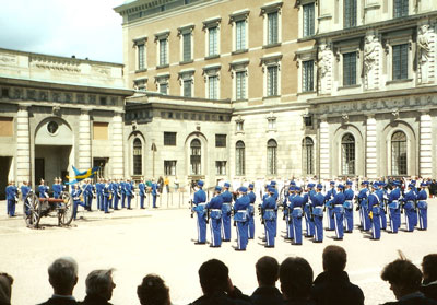 Stockholm changing of the guard