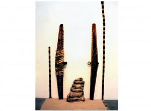 """""""Mummification, Lovers: 15 x 12 feet x 5 inches, Mixed Media, 1978-79"""