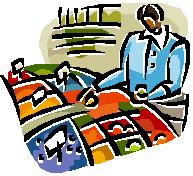 bizwoman selecting items