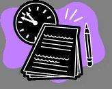 time paper pen