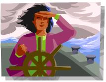 woman at helm